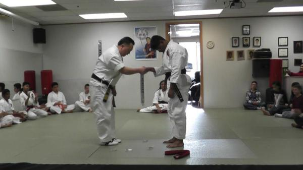 Master Karate Instructor and Martial Art Student